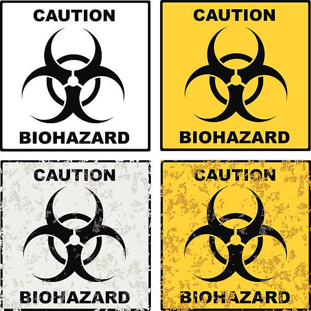 biohazard sign grunge biohazard sign background vector eps 10 biohazard symbol stock illustrations