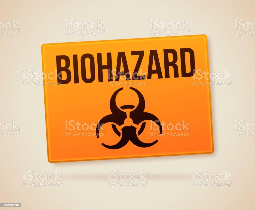 Biohazard Sign vector art illustration