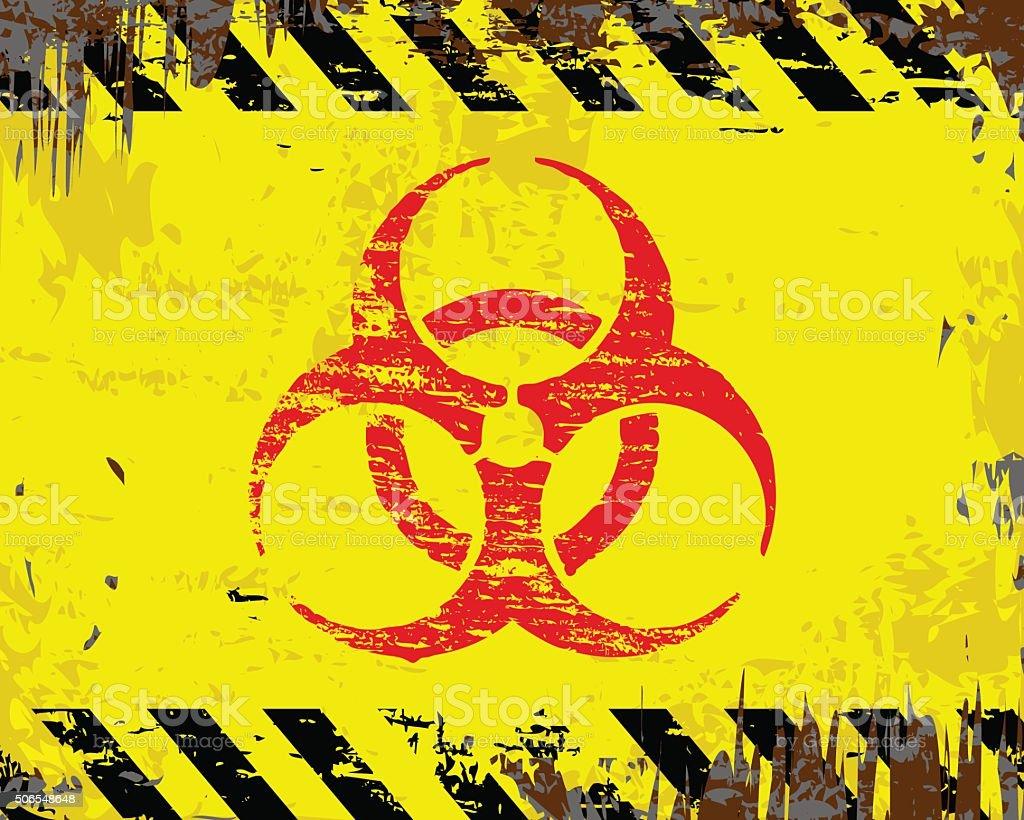 Biohazard Symbol Sign vector art illustration