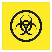 Biohazard symbol sign,vector icon. EPS 10.