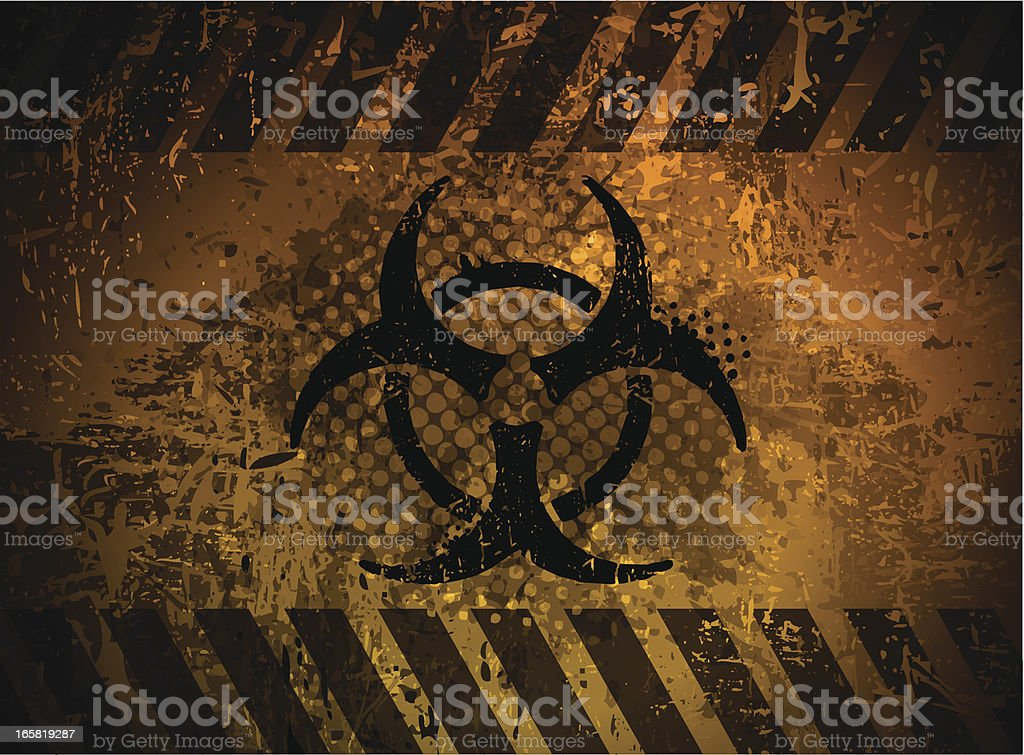 Biohazard symbol royalty-free stock vector art