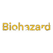 Vector illustration of the biohazard text symbol or sign. Cut out design element for ideas and concepts about pandemics, covid-19, infectious and contagious diseases, danger areas, healthcare and medicine, protection, safety and quarantine