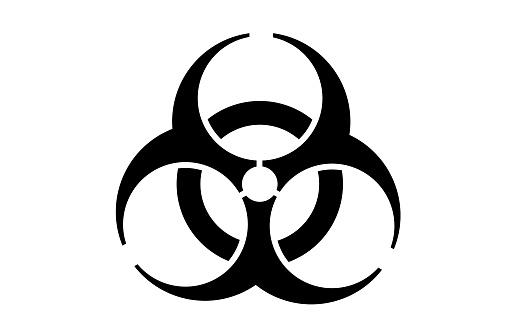 Biohazard vector icon symbol