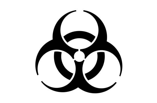 Biohazard vector icon symbol Biohazard vector icon symbol on a white background biohazard symbol stock illustrations