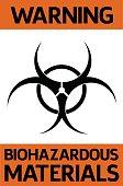 istock Biohazardous materials warning sign 1270296614