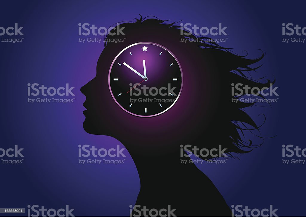 Biological clock vector art illustration