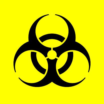 Biological hazard sign. Biohazard symbol. Vector illustration.