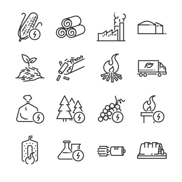 Biogas Plant Illustrations, Royalty-Free Vector Graphics