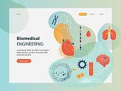 Website template depicting biomedical engineering.