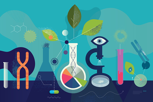 Biomedical Research Laboratory Concept