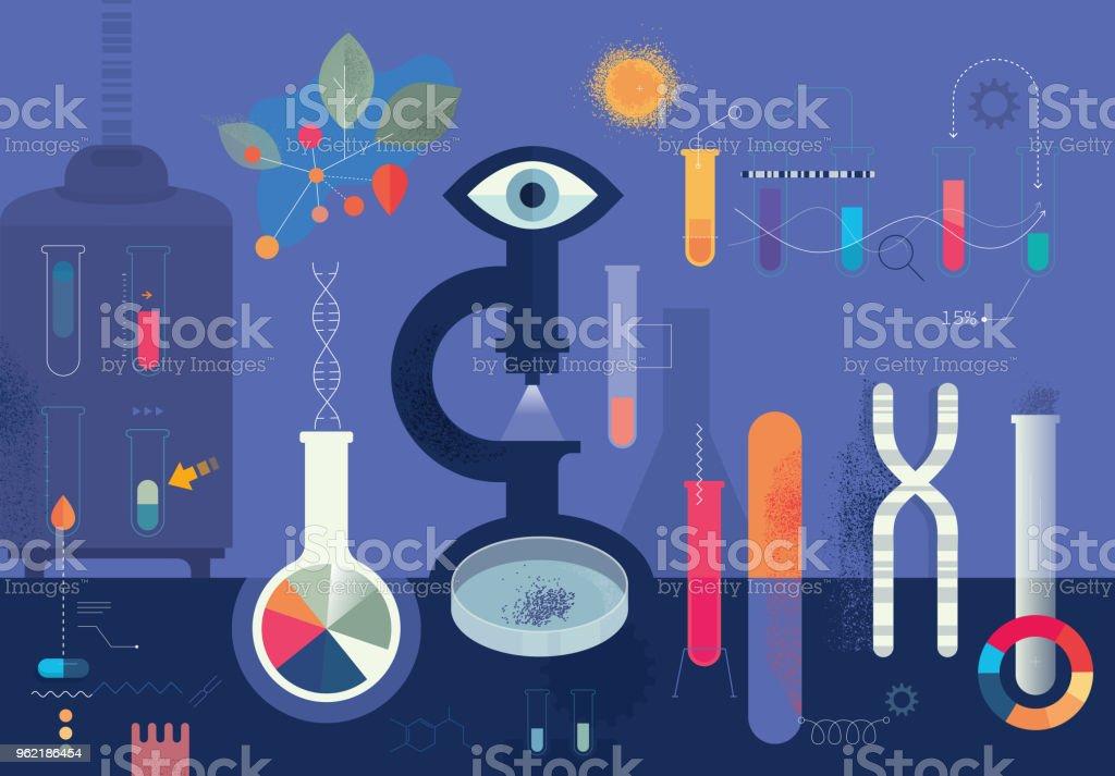 Biomedical Research – Vektorgrafik