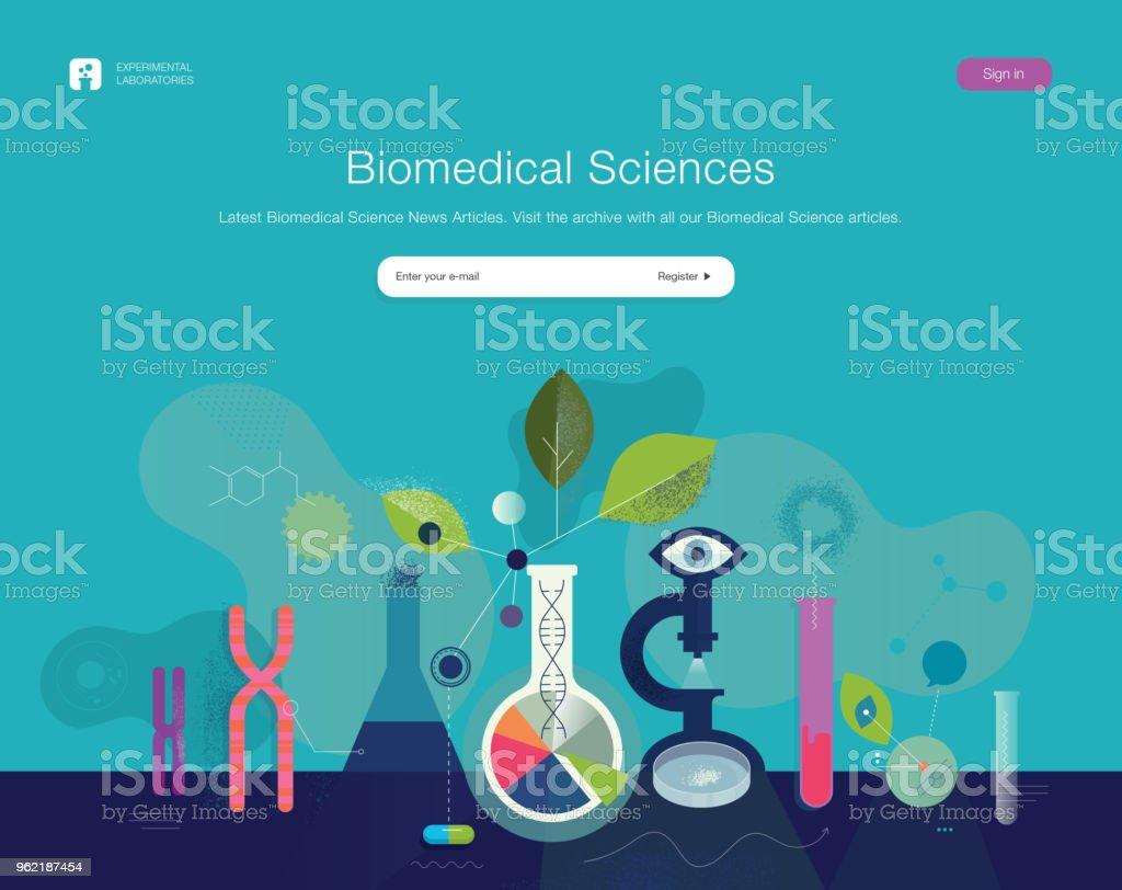 Ilustración de Plantilla Web De Ciencias Biomédicas y más banco de ...
