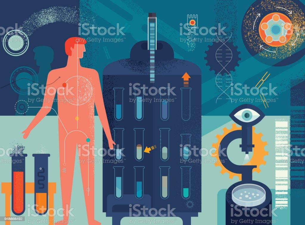Biomedizin-Konzept – Vektorgrafik
