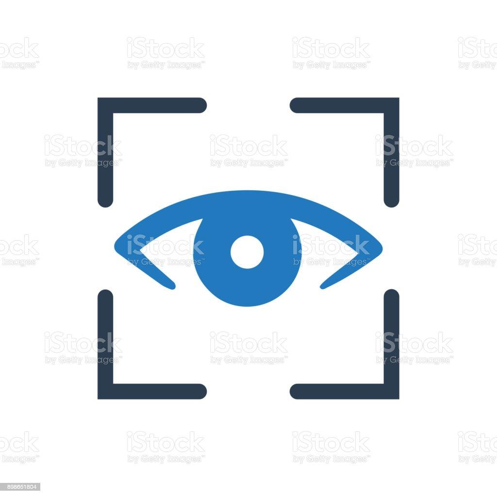 Biometric Eye Scanner Icon vector art illustration