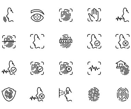 Biometric icon set