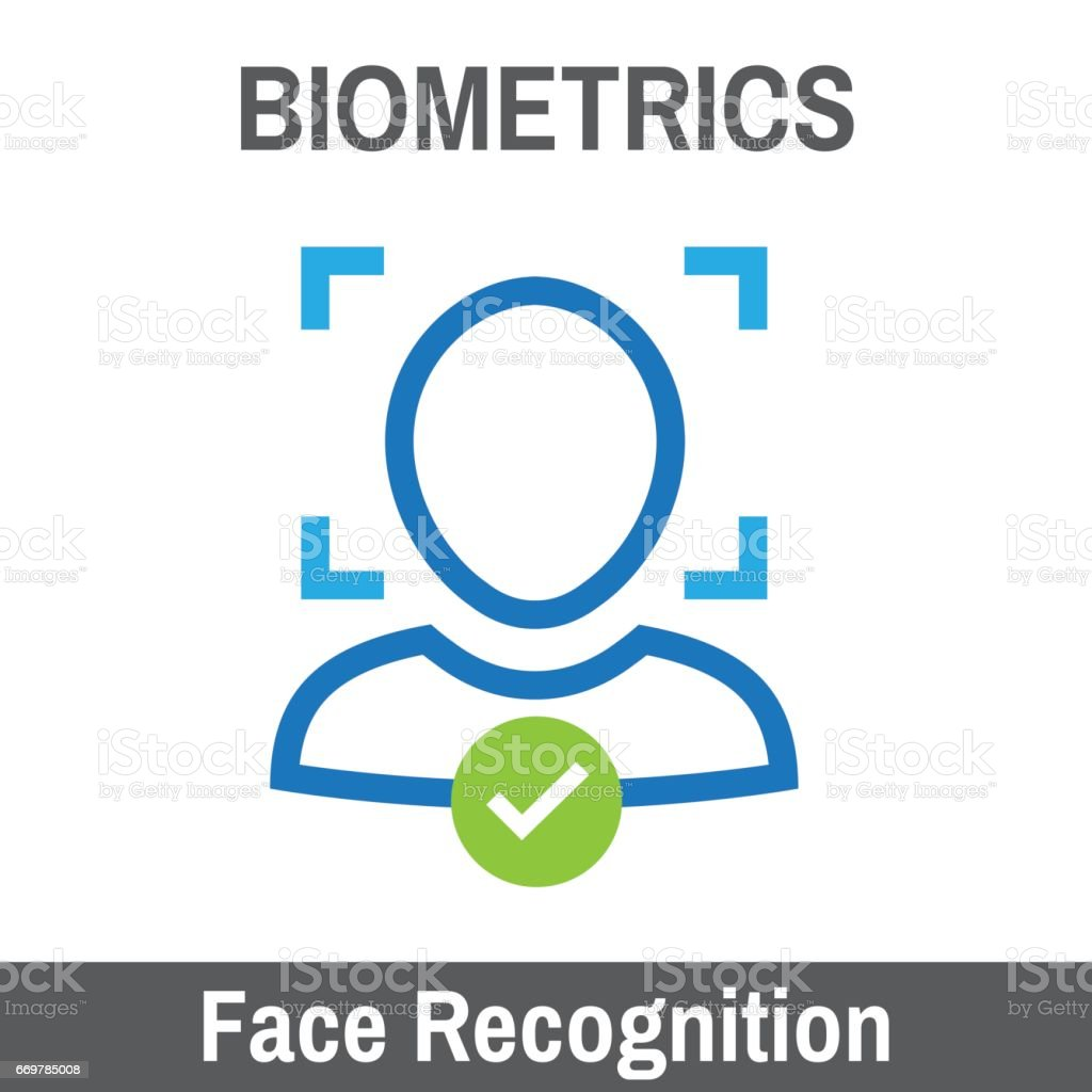 Biometric Scanning vector art illustration