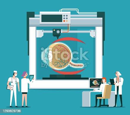 istock Bioprinter concept - eye ball 1293829736