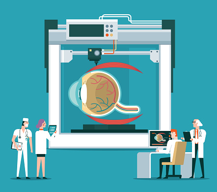 Bioprinter concept - eye ball