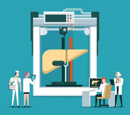 Bioprinter concept - Liver