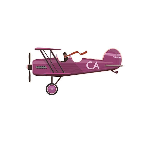 Biplane icon, cartoon, style Biplane icon, cartoon, flat style isolated on white private airplane stock illustrations