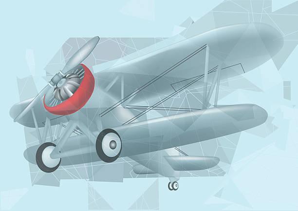 1829c05d8138 biplane in the sky vector art illustration
