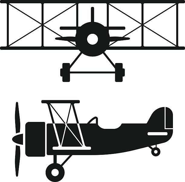 ilustraciones, imágenes clip art, dibujos animados e iconos de stock de biplano retro avión siluetas - zoom meeting