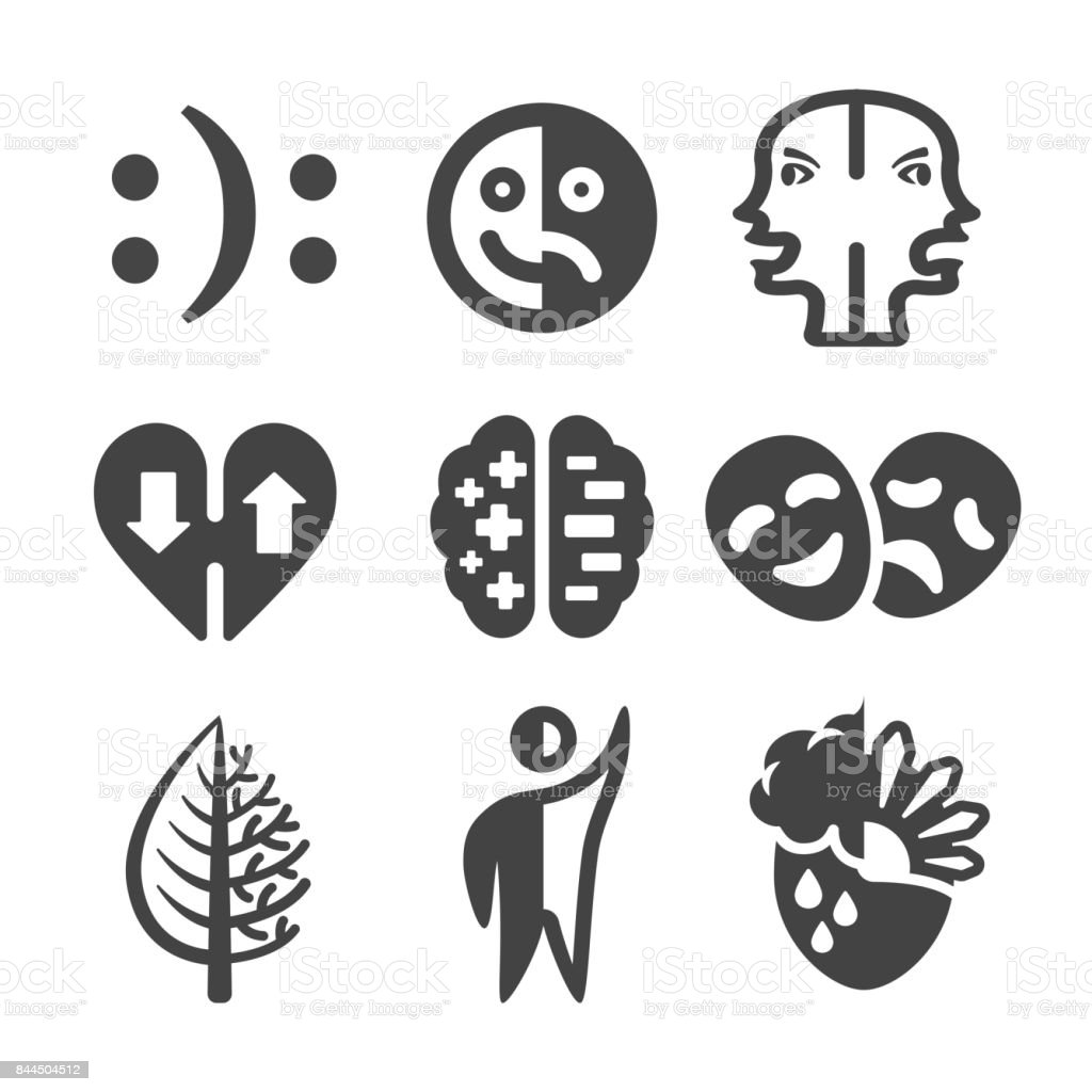 Bipolar Disorder Icon Stock Vector Art More Images Of Acting