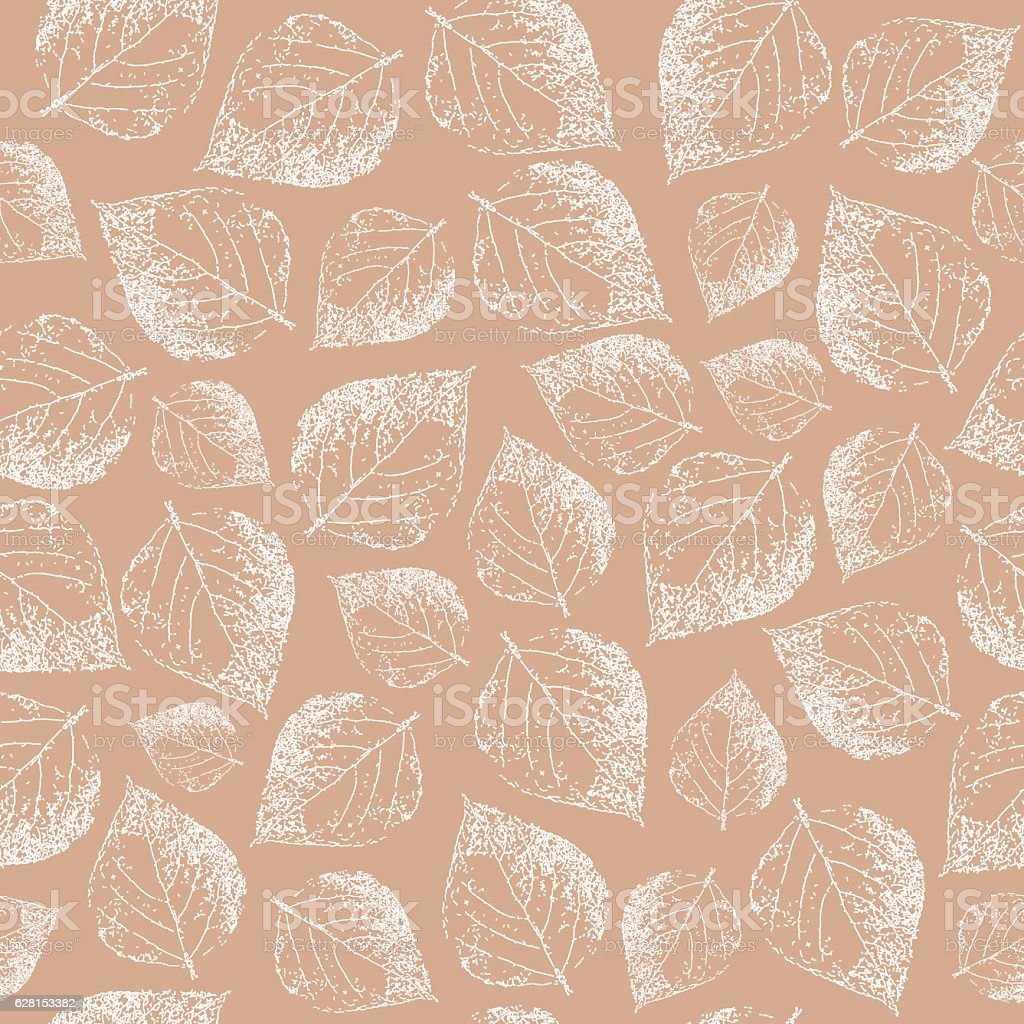 Birch leaves. Seamless pattern. Hand drawn. Graphic drawing. Vector illustration vector art illustration