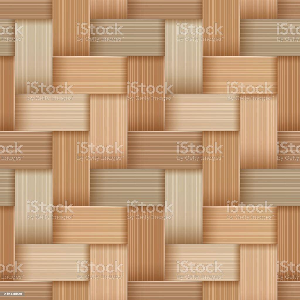 Birchbark Basketwork. vector art illustration