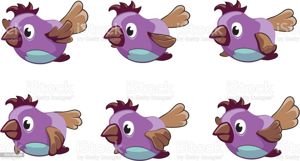 Bird animation vector frames vector art illustration