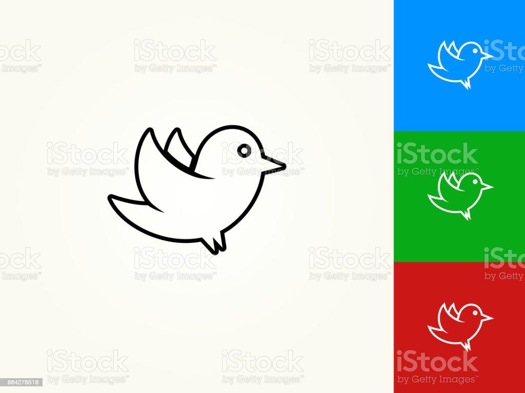 Bird Black Stroke Linear Icon royalty-free bird black stroke linear icon stock vector art & more images of bird