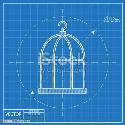 Bird cage blueprint icon stock vector art more images of bird bird cage blueprint icon stock vector art more images of bird 518091726 istock malvernweather Choice Image