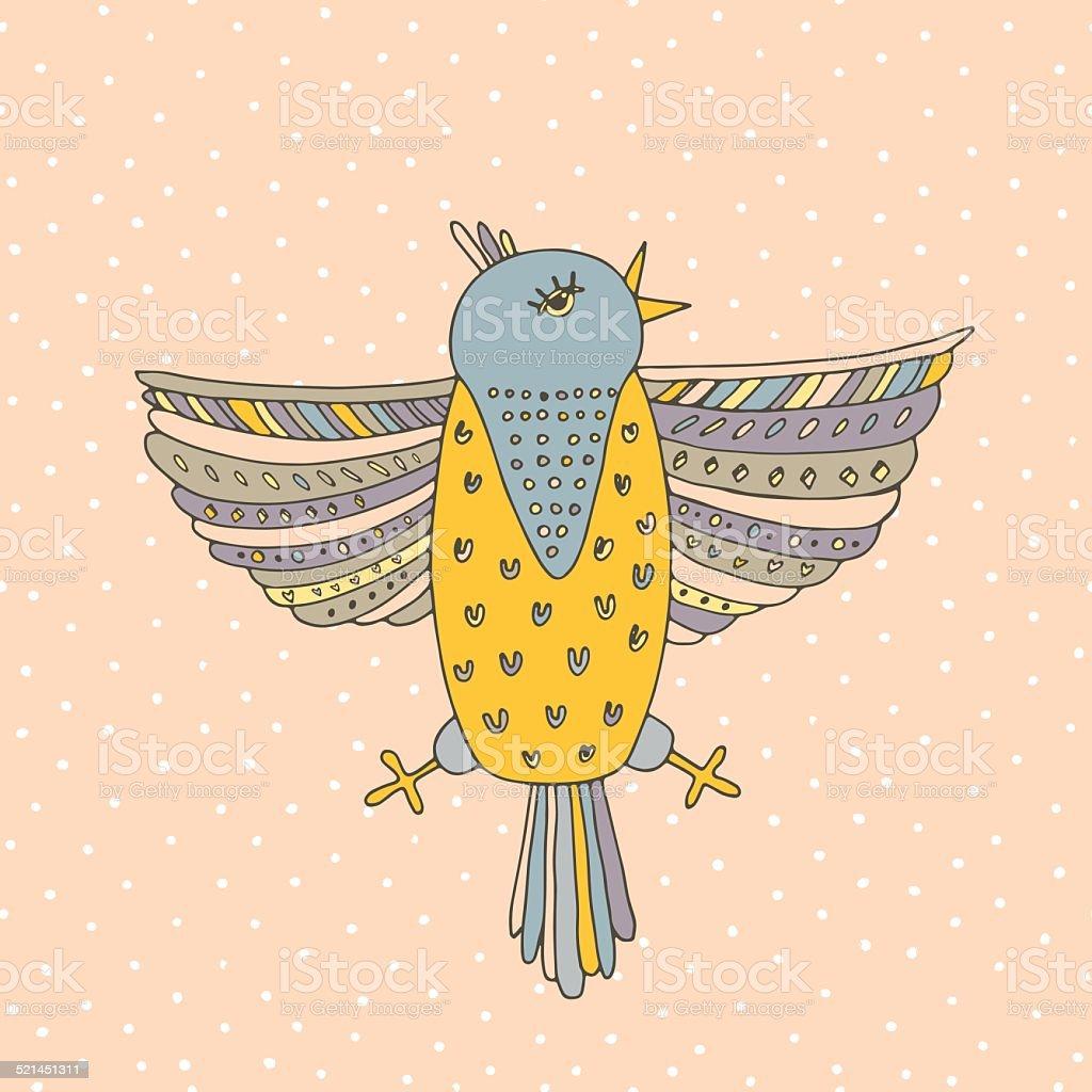 Bird Card vector art illustration