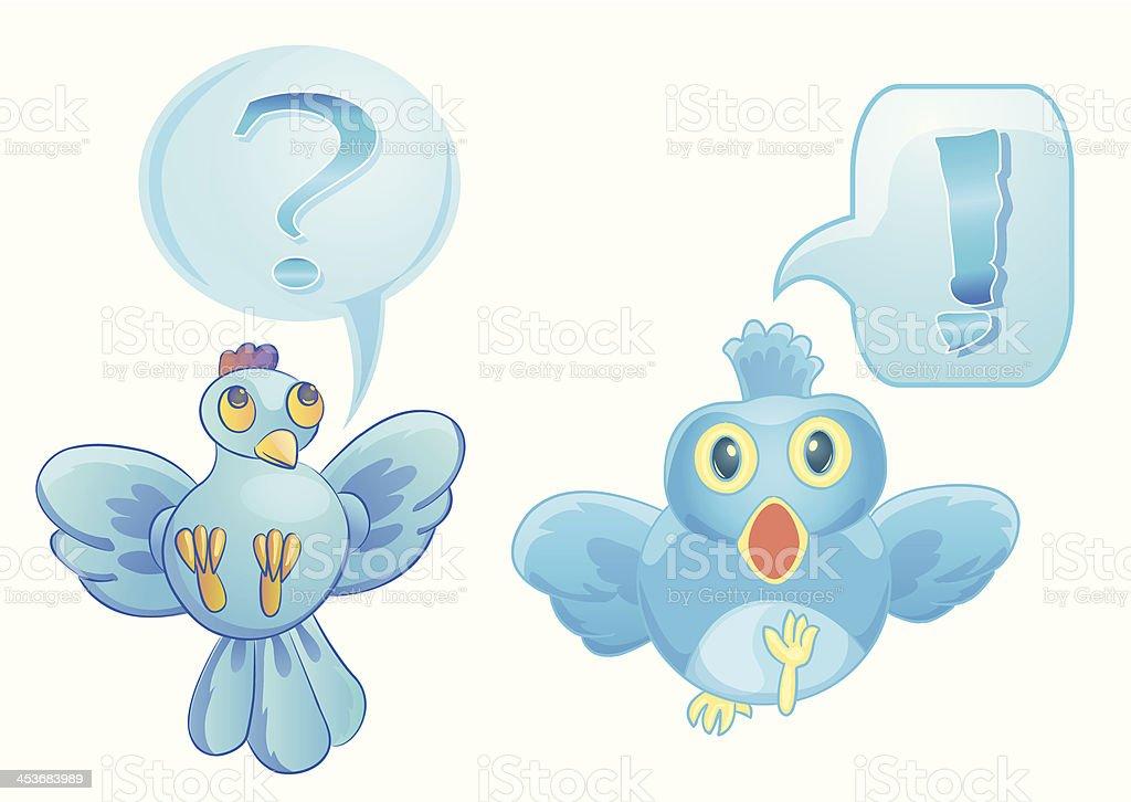 bird cartoon with bubble text royalty-free stock vector art