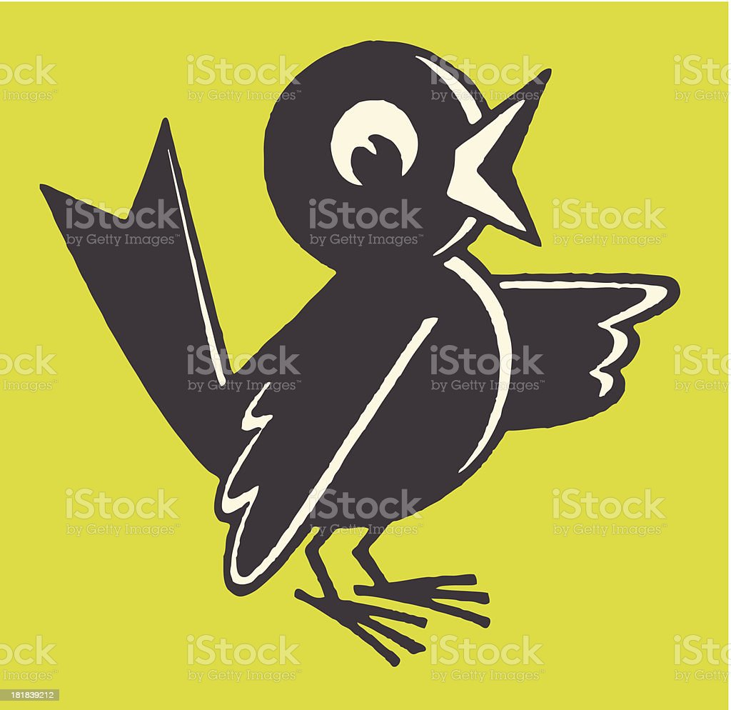 Bird Chirping vector art illustration