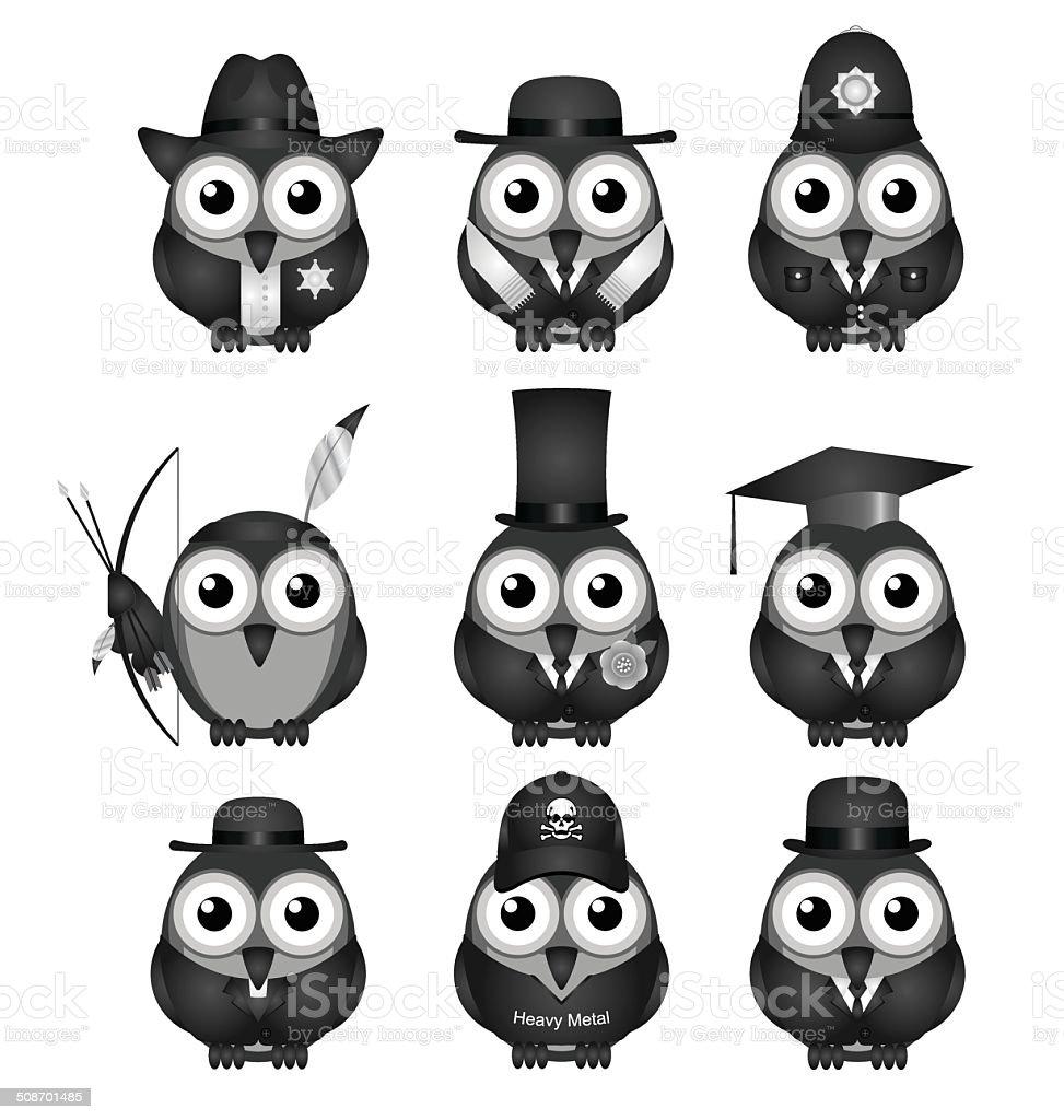 Bird Collection vector art illustration