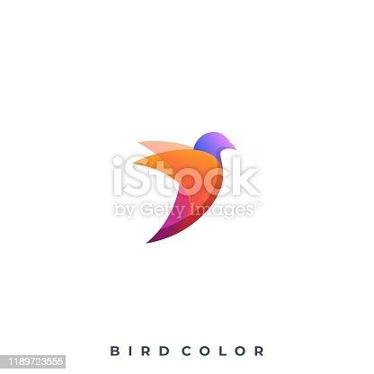istock Bird Colorful Illustration Vector Template 1189723555