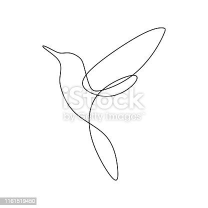 Bird continuous line drawing vector illustration minimalist design good for logo branding and abstract minimalism poster