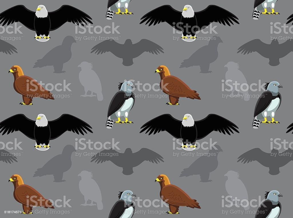 Pájaro águila papel tapiz - ilustración de arte vectorial