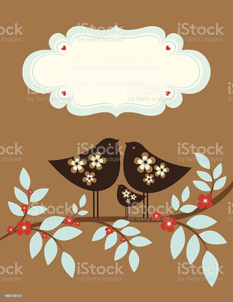 Bird Family in the Spring royalty-free bird family in the spring stock vector art & more images of animal