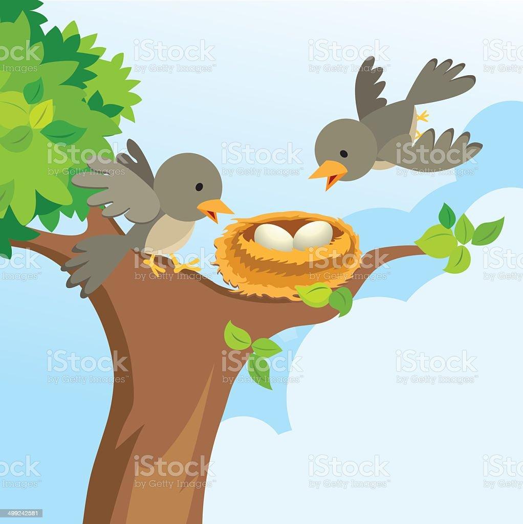 bird nest clip art vector images amp illustrations istock