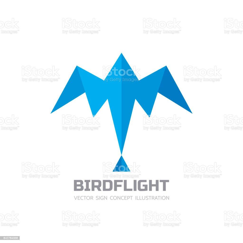 Vol De Loiseau Vector Logo Modèle Illustration Créative Signe De