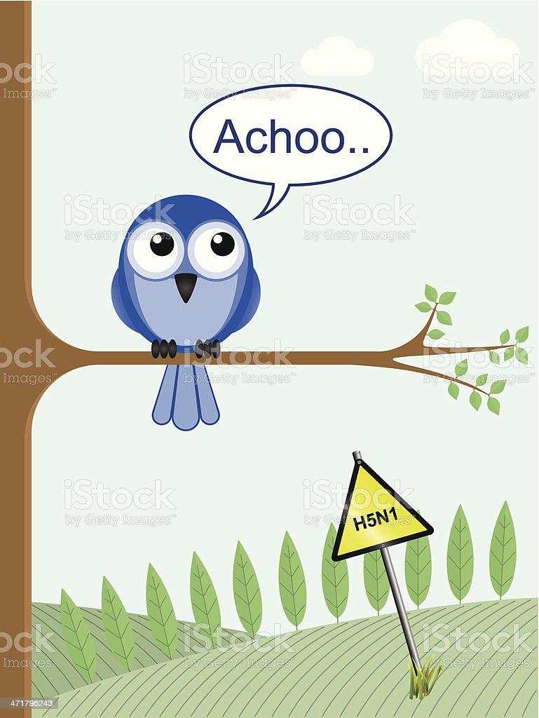 Bird Flu vector art illustration