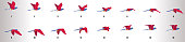 istock Bird flying animation sequence, loop animation sprite sheet 1209938468