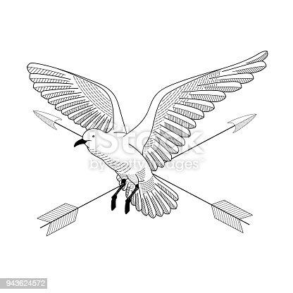 oiseau qui vole illustration de vecteur dessin dessin au. Black Bedroom Furniture Sets. Home Design Ideas