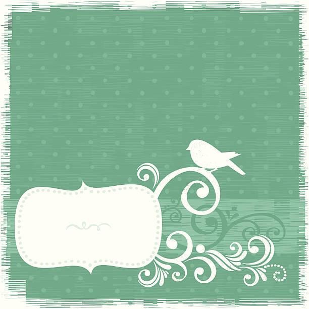 Bird frame vector art illustration