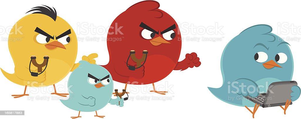 Bird gang vs bluebird