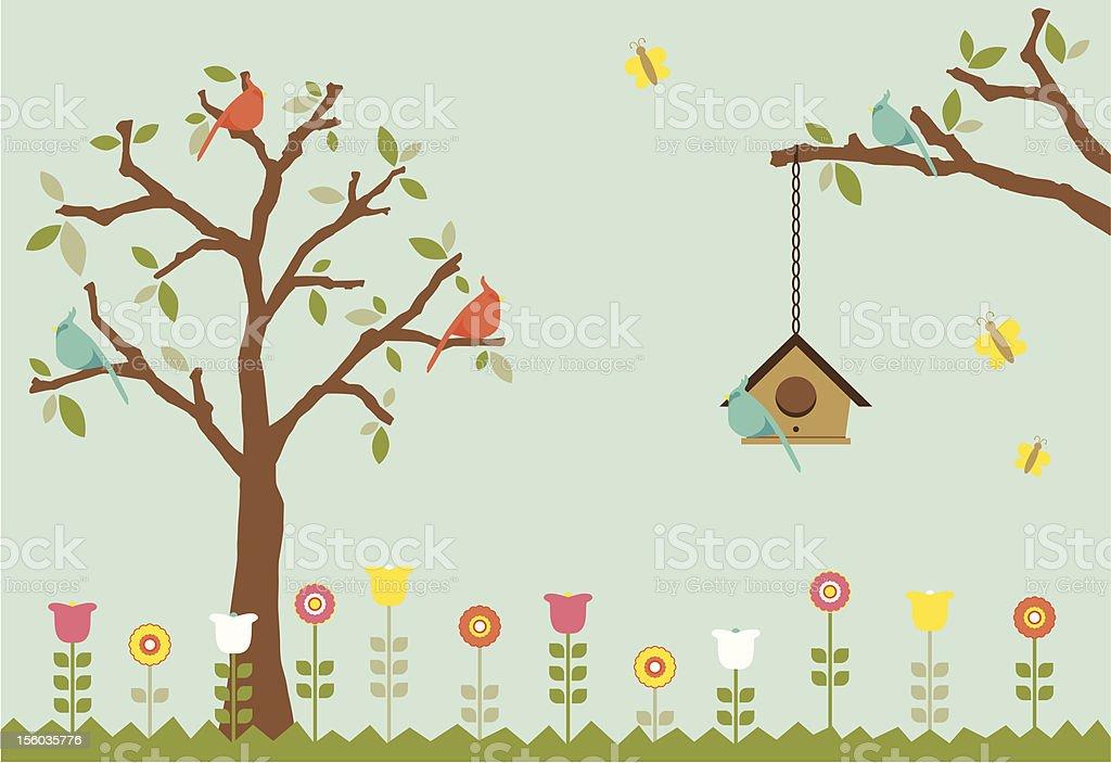 Bird Garden royalty-free bird garden stock vector art & more images of animal