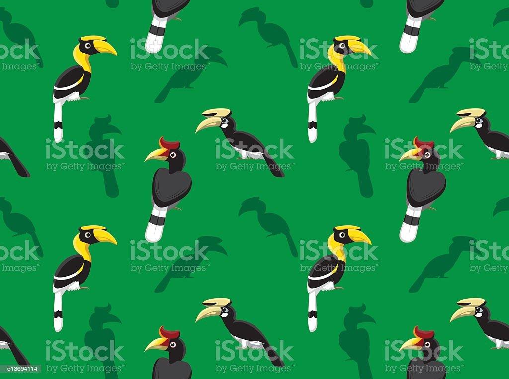 Bird Hornbill Wallpaper vector art illustration