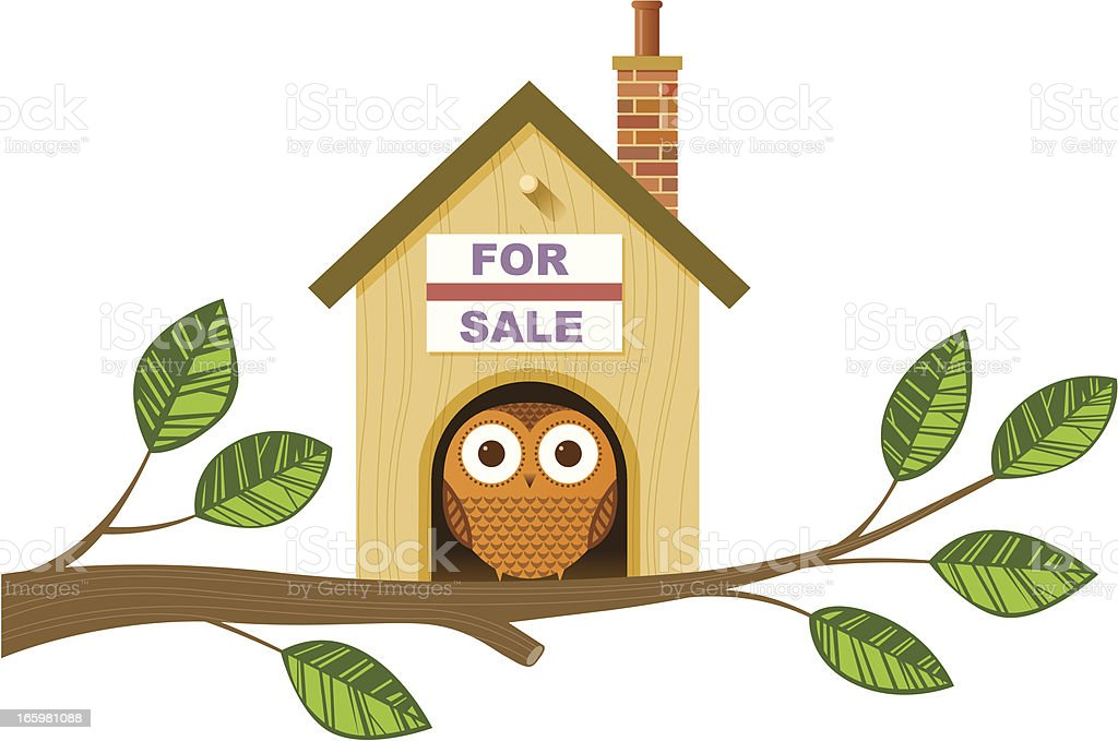 Bird house illustration royalty-free stock vector art